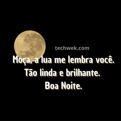 imagem romantica de boa noite com lua
