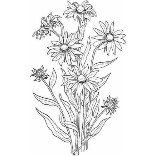 Lindas flores para imprimir e colorir