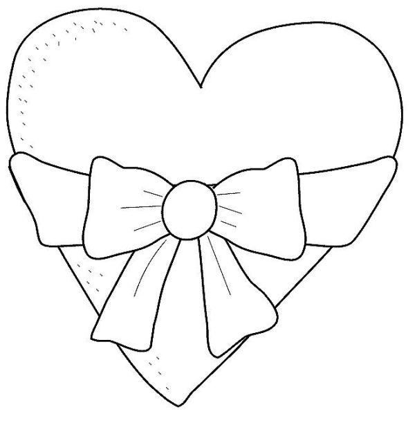 Desenhos de coração para colorir top