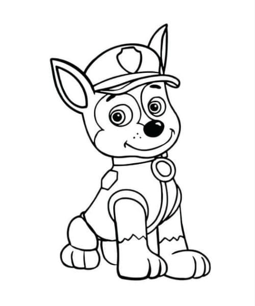 Desenho fofo de cachorro para se divertir colorindo
