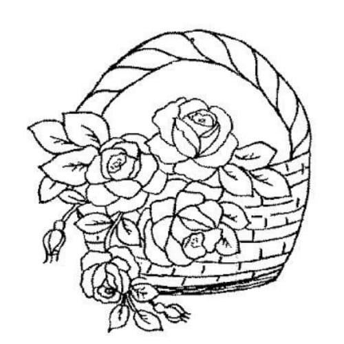 Imagem linda com flores lindas para imprimir e colorir