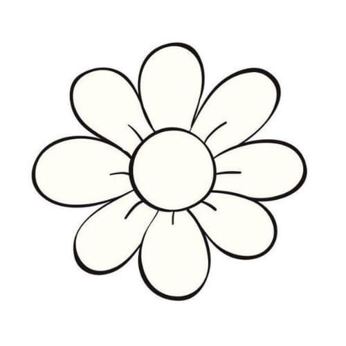 Flor delicada para colorir e imprimir