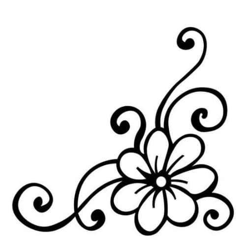 Desenho perfeito de flor para colorir e imprimir