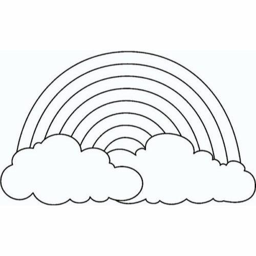 Desenhos de Arco-íris Sol e Nuvens verdadeiro