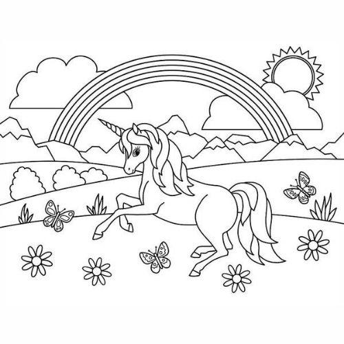Desenhos de Arco-íris Sol e Nuvens encantado