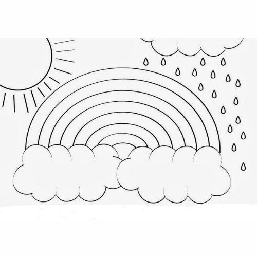 Desenhos de Arco-íris Sol e Nuvens chuva