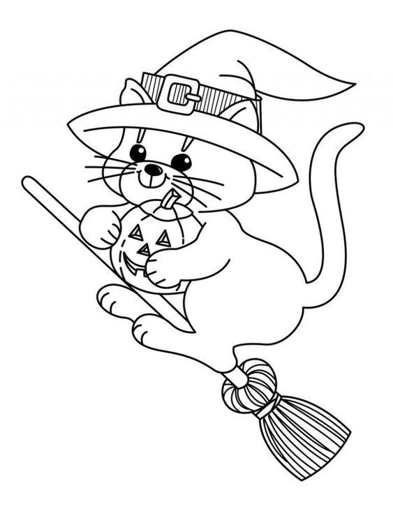 Desenhos de gatos para pintar bem