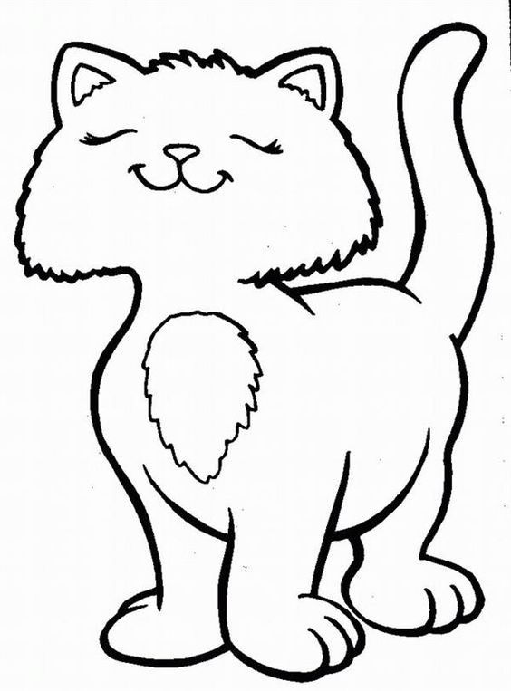 Desenhos de gatos para pintar joia