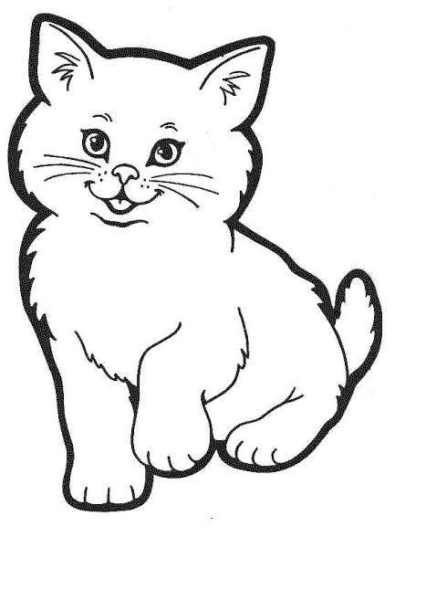 Desenhos de gatos para pintar tops