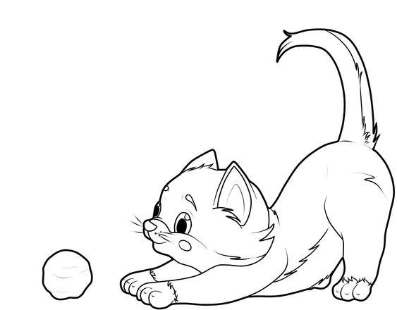 Desenhos de gatos para pintar tradicionais