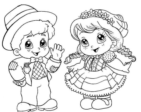 Desenhos de festa junina para colorir bonitos