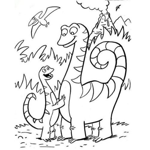 dinossauros para colorir carinhoso