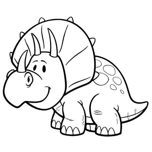 dinossauros para colorir colorido