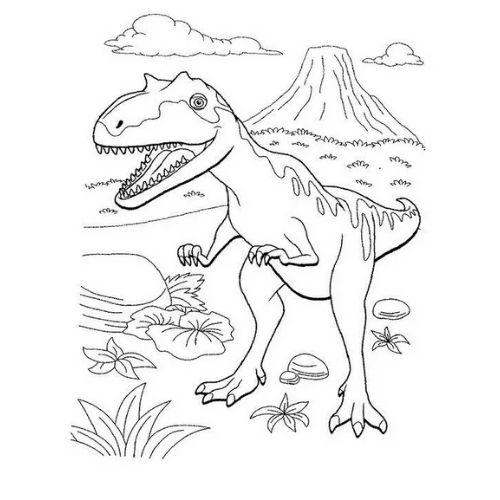 dinossauros para colorir assustadores