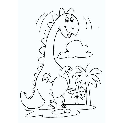 dinossauros para colorir animado