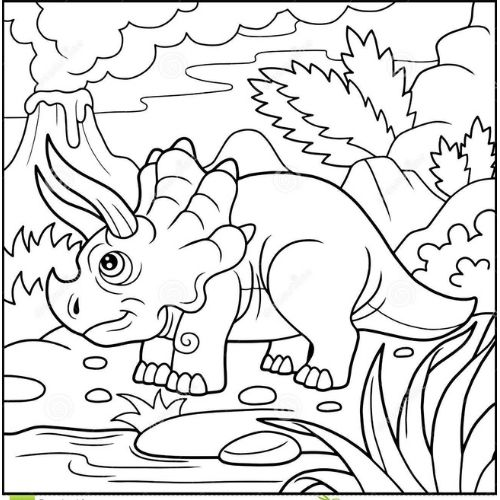 dinossauros para colorir selvagens