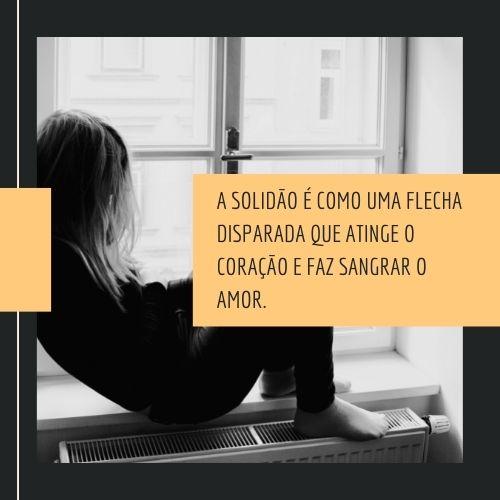 frases de solidão para refletir o coração