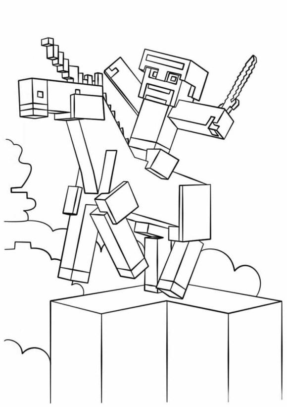 desenhos  Minecraft boiadeiro