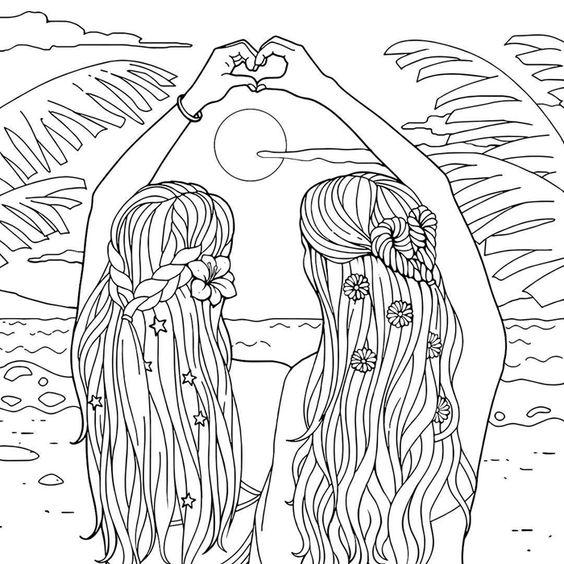 Desenho de amigas tumblr