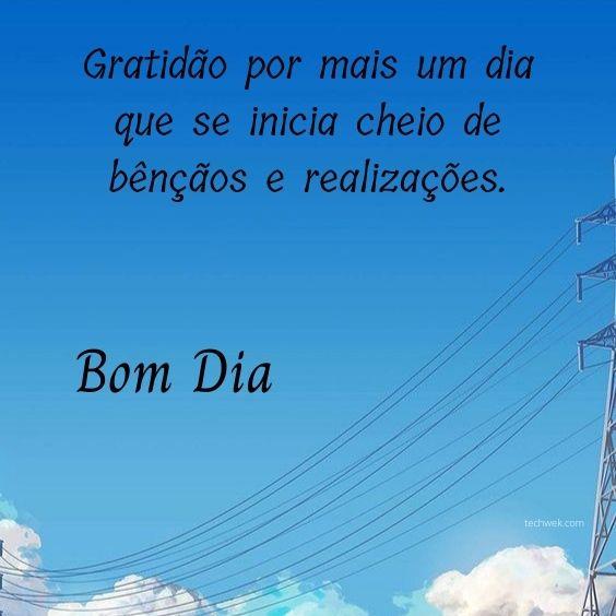 Gratidão pelas bênçãos