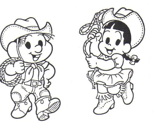 Desenhos de festa junina para colorir brincadeiras