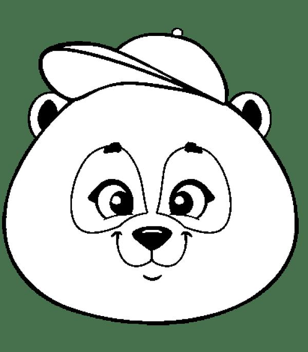 belos desenhos de panda da kawaii para colorir