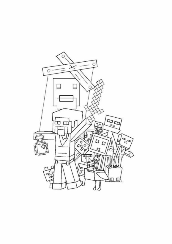desenhos  Minecraft manipulado