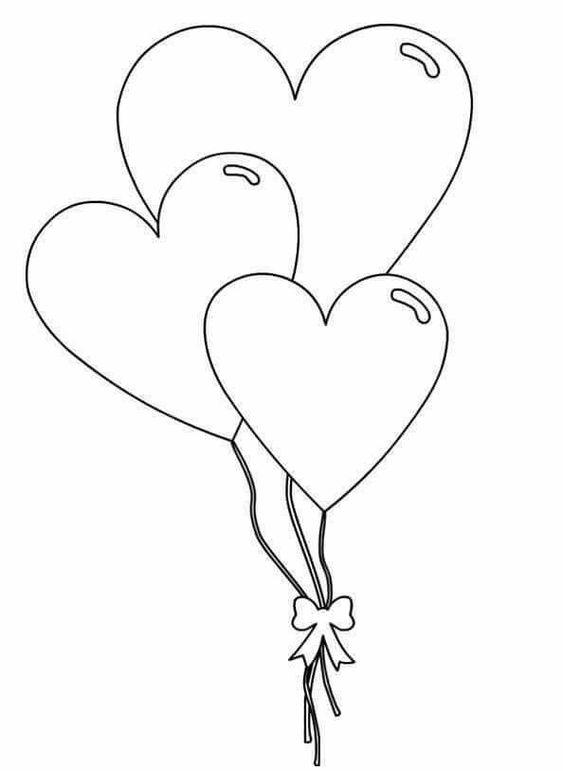 Desenhos de coração para colorir exclentes
