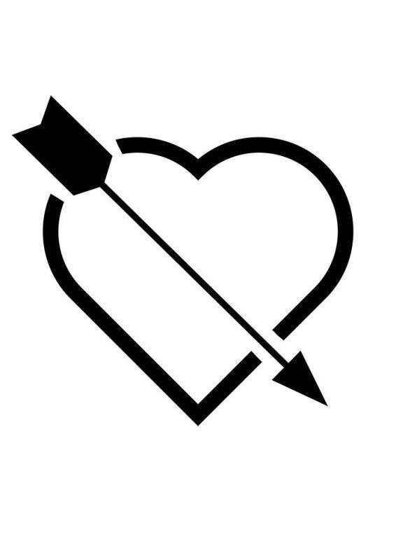 Desenhos de coração para colorir belissimo