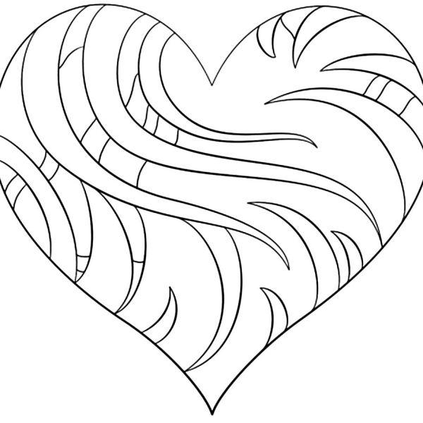 Desenhos de coração para colorir show