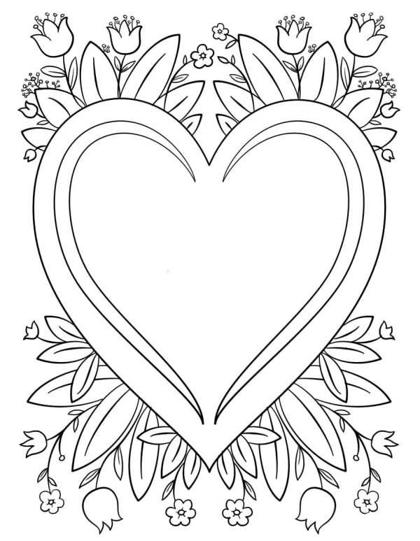 Desenhos de coração para colorir único