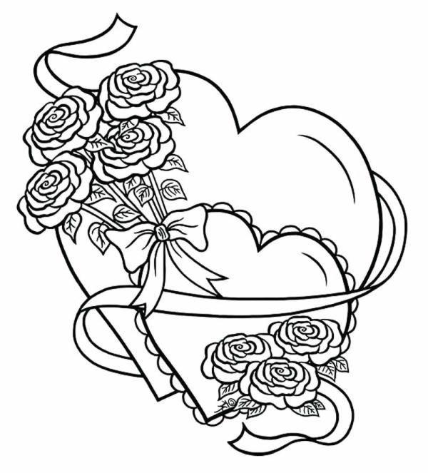 Desenhos de coração para colorir divertido