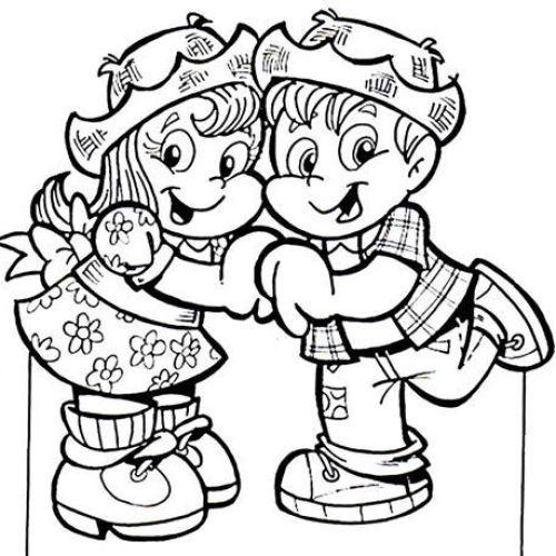 Desenhos de festa junina para colorir vistosos