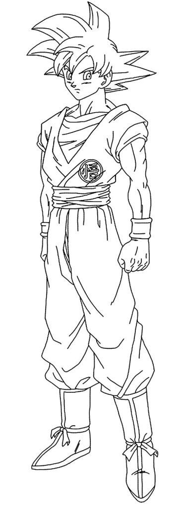 Desenhos do Goku alto