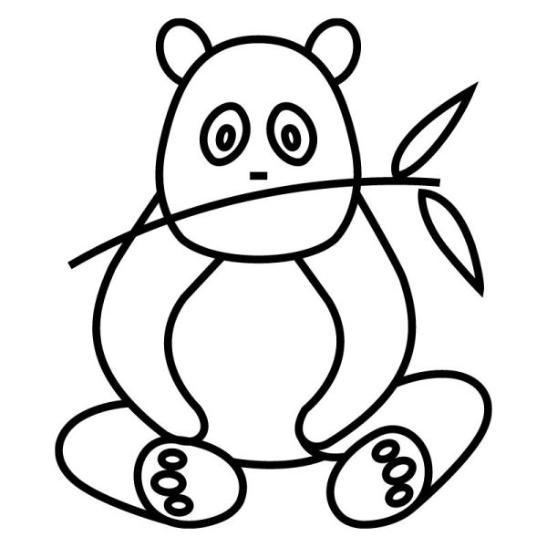 belas desenhos de panda do kawaii