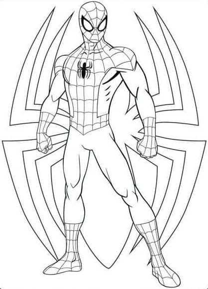 melhores desenhos para pintar do homem aranha