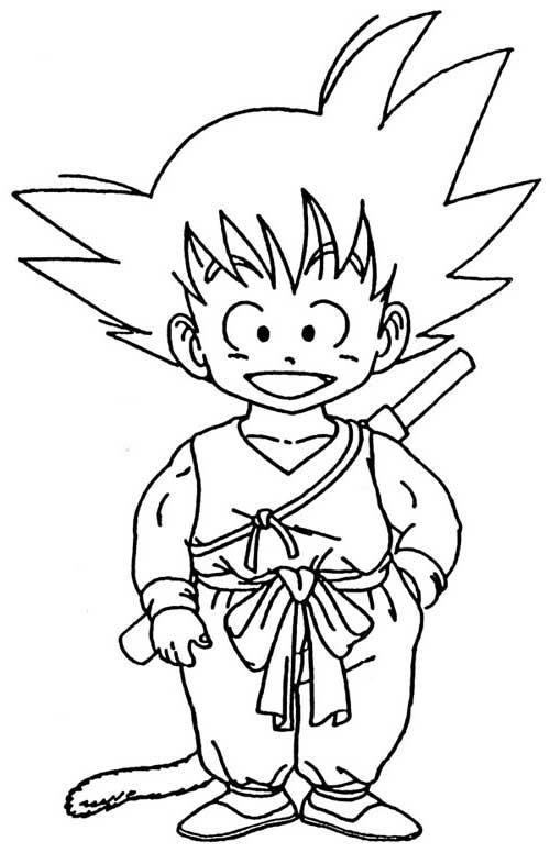 Desenhos do Goku feliz
