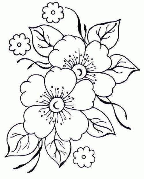 Belas flores pra colorir e imprimir