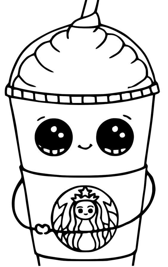 Desenho milkshake kawaii