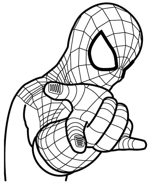 desenhos de colorir do desenho homem aranha