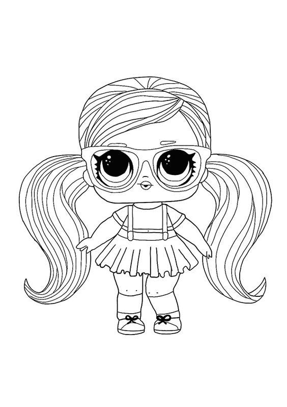 Linda boneca lol para colorir