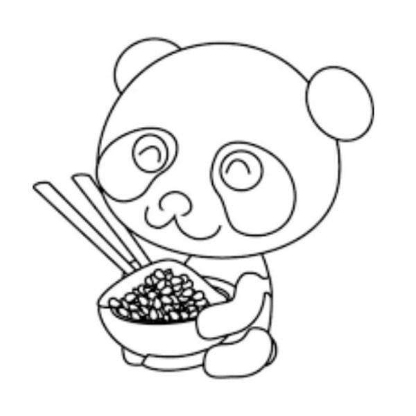 panda desenho