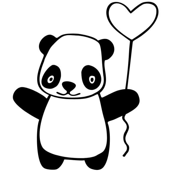 desenhos de panda para pintar da kawaiii