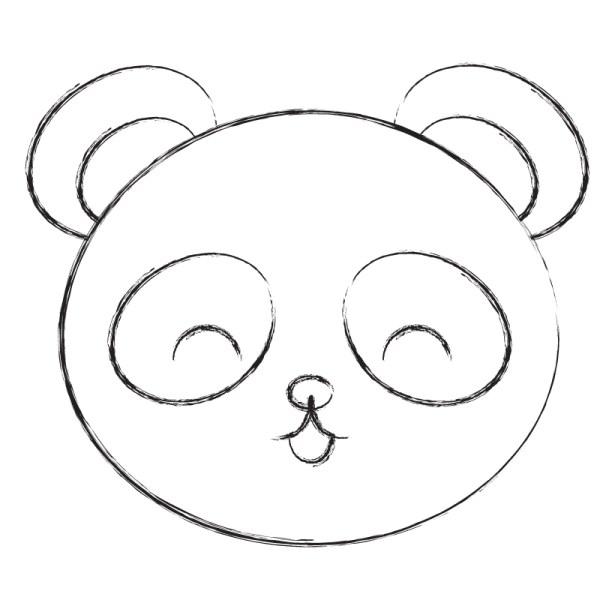 panda de colorir