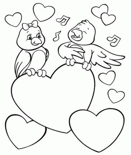 Pássaros com corações