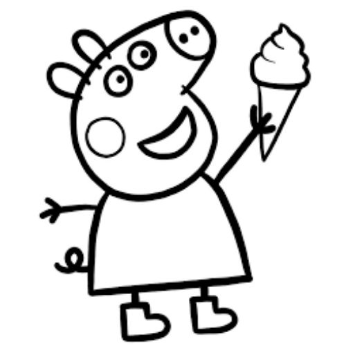 peppa pig para colorir divertido