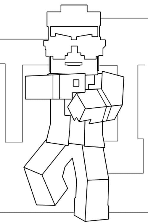 desenhos  Minecraft dançando