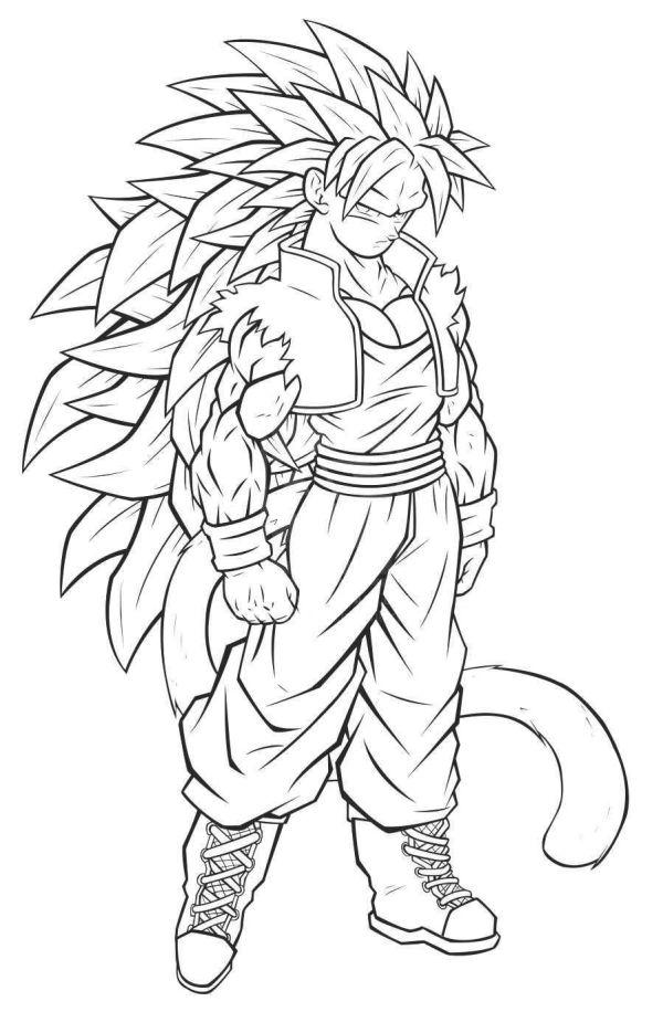 Desenhos do Goku fortão