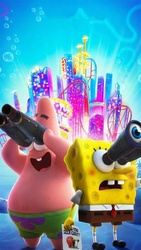Bob esponja e Patrick procurando gary