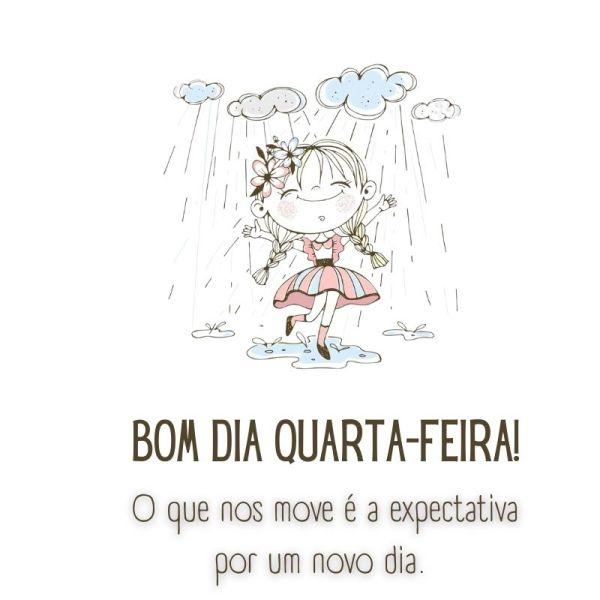 bom dia quarta feira com chuva de esperança